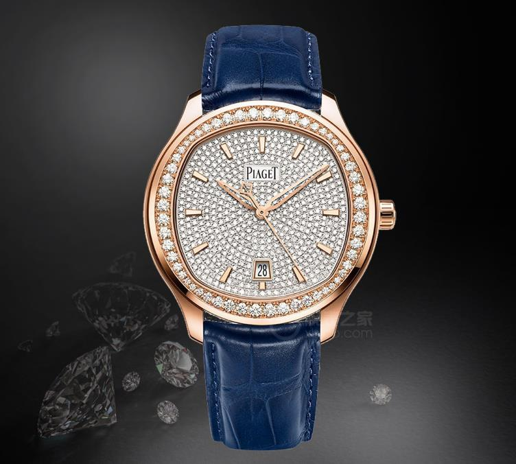 The luxury fake watches are decorated with diamonds.