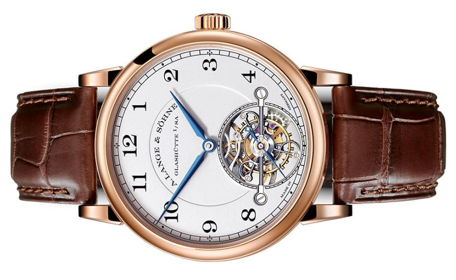 The white dials copy watches have tourbillons.