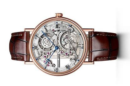 The brown leather straps copy watches have hollowed dials.
