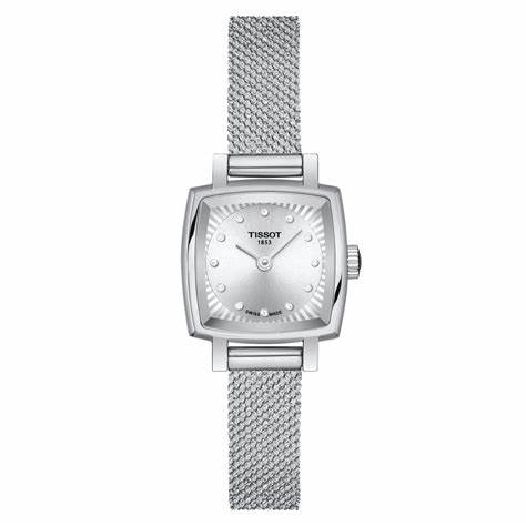 The silvery dials copy watches have diamond hour marks.
