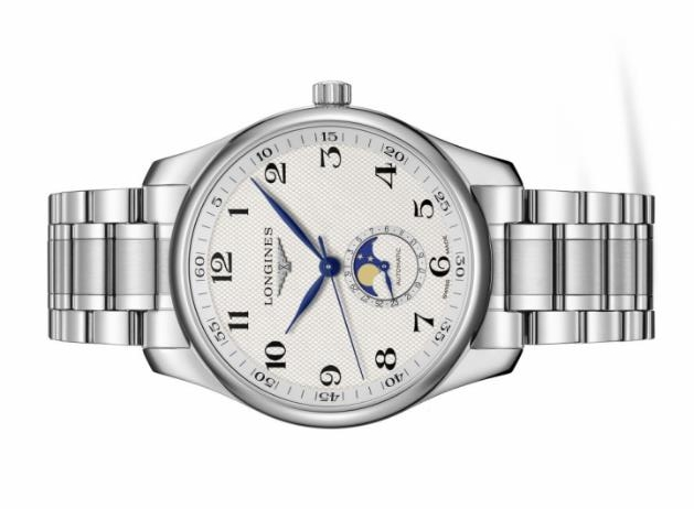 The silvery dials copy watches have moon phases.