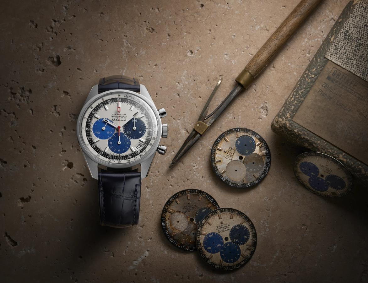 The blue straps copy watches are designed for men.